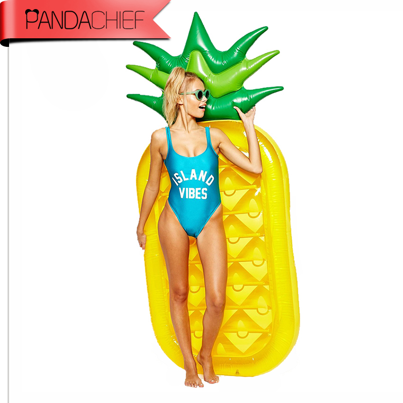 73 Inch 1.8M Giant Inflatable Pineapple Pool Float Raft Pool Toy Float Inflatable Swan Pool Swim Ring Holiday Water Fun Pool Toy 106 inch giant pool float inflatable unicorn lazy air mattress bed swim ring feamle floating row water fun toy swimming laps
