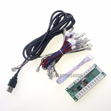 Reyann Arcade DIY Kits Parts Zero Delay LED USB Encoder PC To 5 Pin 5V Joystick For MAME Cabinet & Raspberry PI Retropie Project