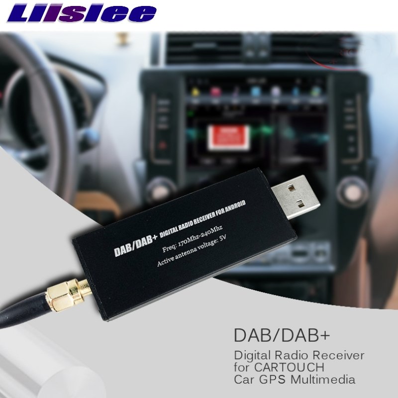 Liislee DAB/DAB+ For Android Navigation Car GPS Multimedia Car DVD Digital Radio Receiver Broadcasting Universal USB In Europe dab car radio tuner receiver usb stick dab box for android car dvd dab antenna usb dongle for android car dvd player
