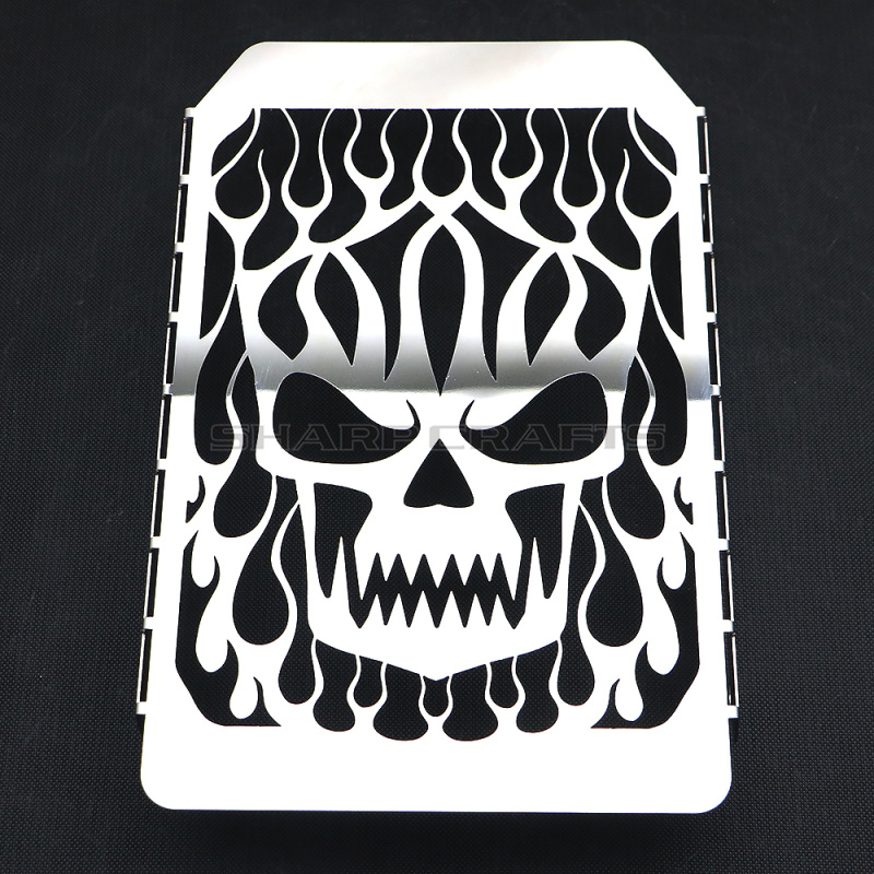 Motorcycle Skull Radiator Grill Cover Water Cooler Guard Protector For Kawasaki VN1500 Vulcan Classic 1998 2008