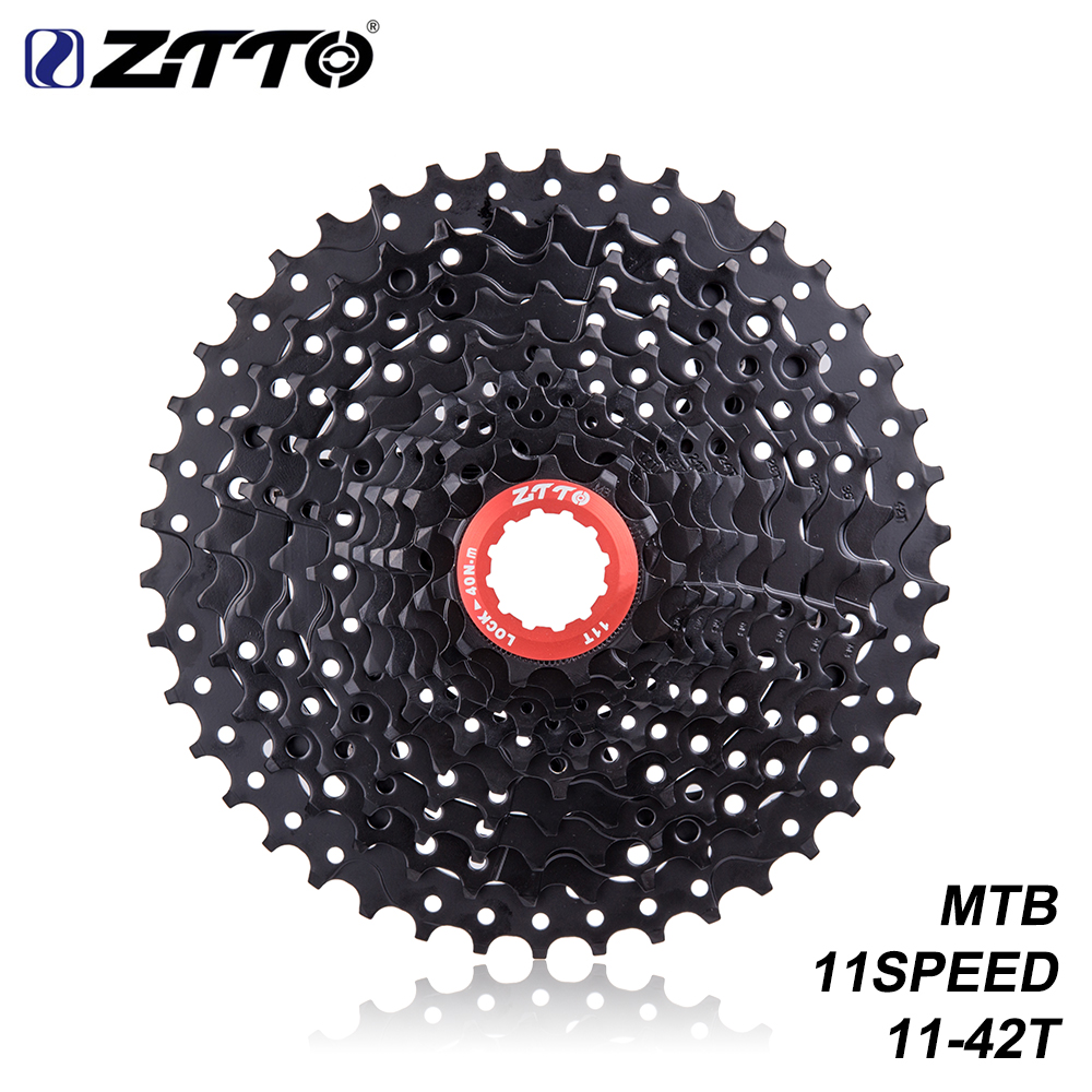 ZTTO Bicycle Parts Wide Ratio MTB Cassette 11 Speed 11-42T BLACK Compatible for Parts M7000 M8000 M9000ZTTO Bicycle Parts Wide Ratio MTB Cassette 11 Speed 11-42T BLACK Compatible for Parts M7000 M8000 M9000