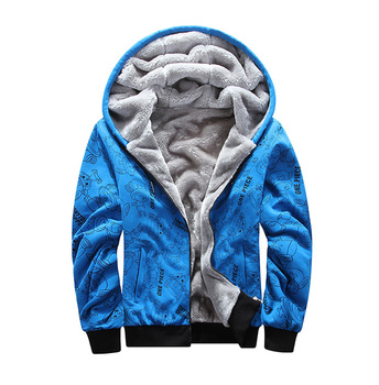 slim hood plus size XL-8XL winter men sweatshirt Winter Thicken Zipper Hooded Mens big clothing