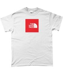 THE BASS FACE North Face bootleg t-shirt - White - Bassline, Drum and Bass merch Gift Print T-shirt Hip Hop Tee