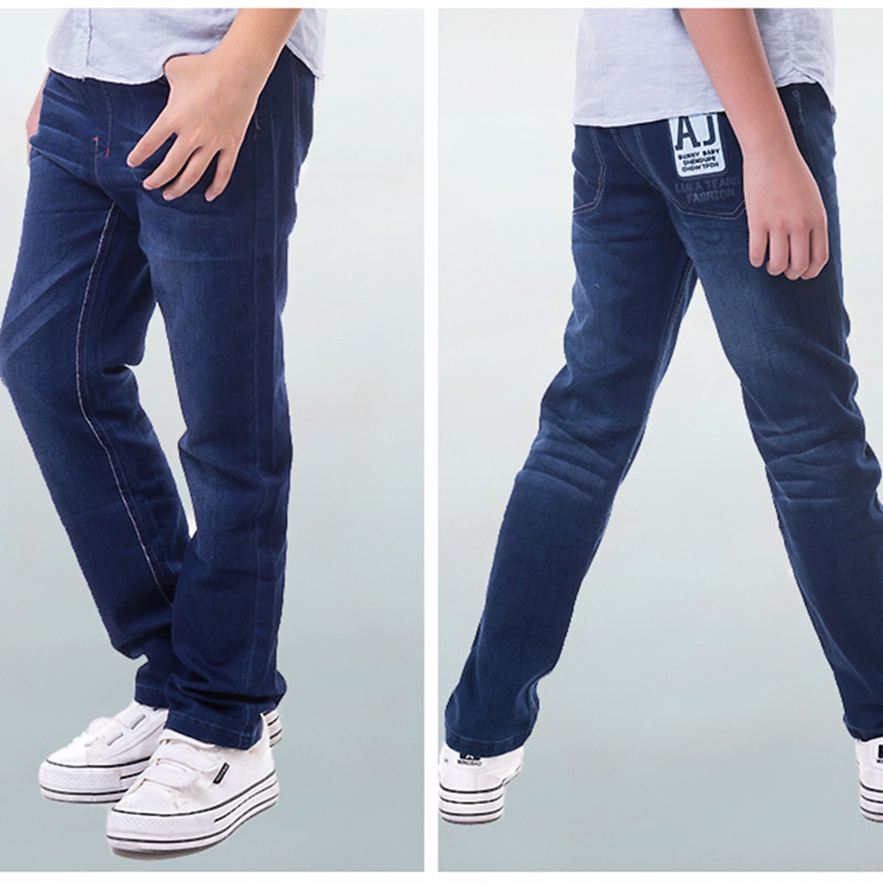 2016 New Fashion Casual Boys Jeans For 7 9 10 11 12 13 Years Old Children Kids Trousers Pants Boy Clothes SKP155010