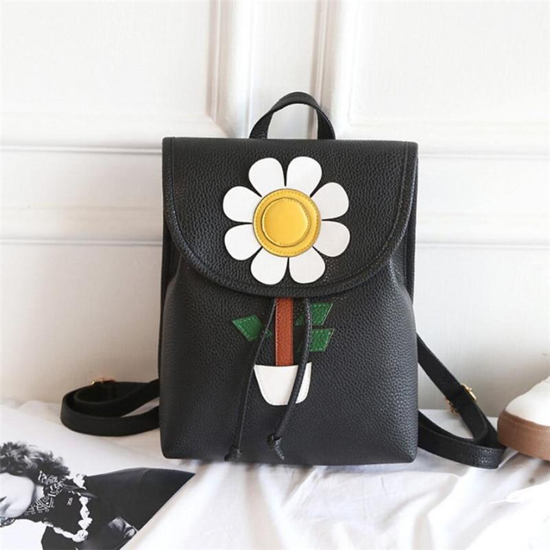 Fashion Women Flowers Fresh Simple Mini Backpack Women Back Pack Backpacks Girls backpack for school mochila escolar 2017