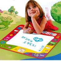 Niños del dibujo del agua pintura escribir juguetes del Doodle de Aquadoodle Mat Magic plumas 80 X 60 cm para los niños