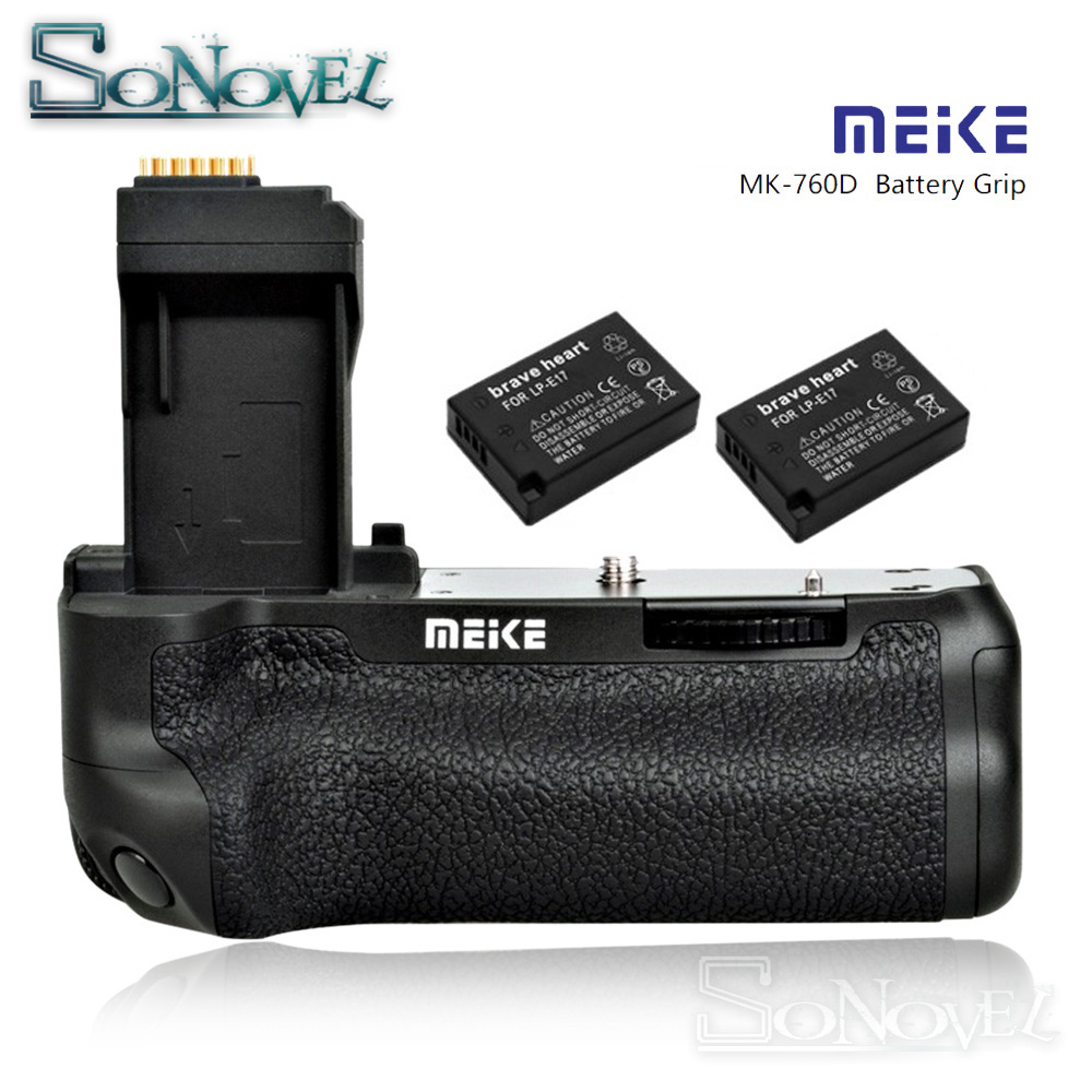 MEIKE MK-760D vertical Battery Grip Holder for Canon EOS 750D 760D Rebel T6i T6s as BG-E18 Replacement with 2ps LP-E17 Batteries meike mk 760d vertical battery grip holder for canon 750d 760d lp e17 as bg e18