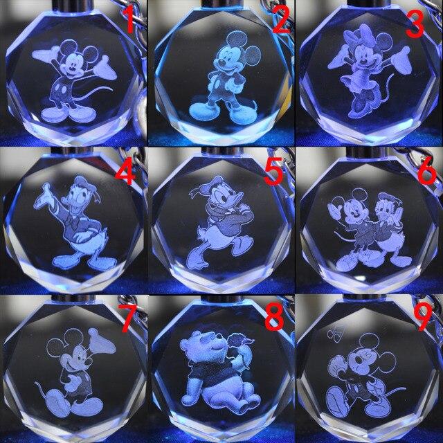 Брелок светодиодный кристалл Микки Маус в ассортименте
