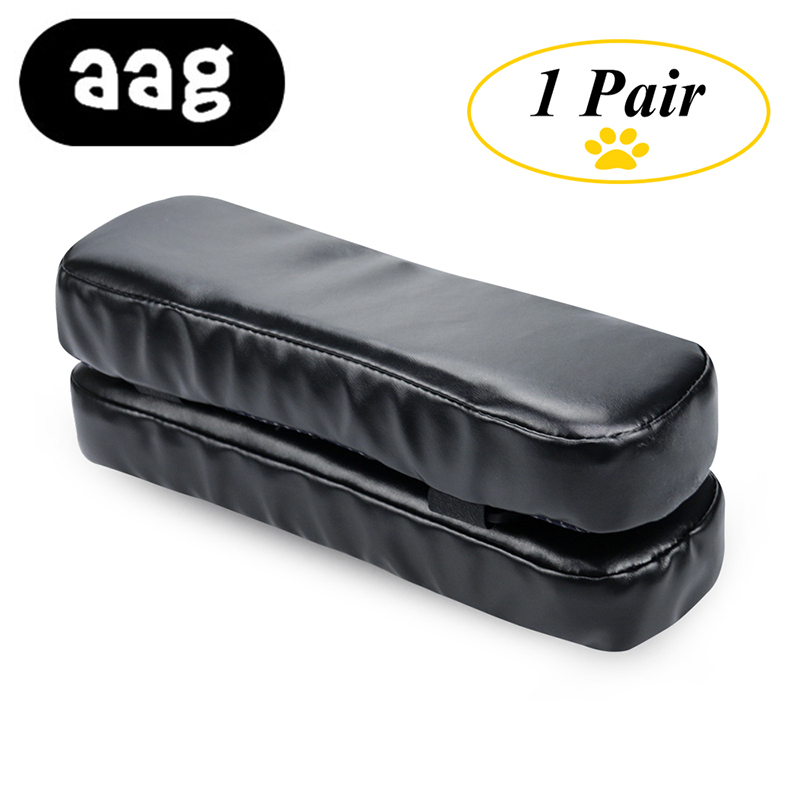 AAG Chair Armrest Pads Memory Foam Elbow Pillow Support Arm Rest Covers PU Leather Armrest Pads Elbow Relief