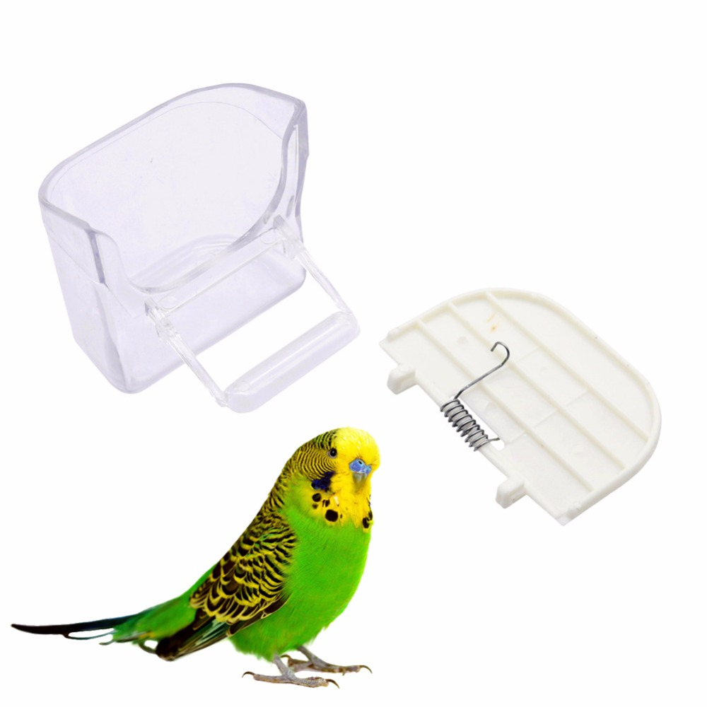 4 Pcs Bird supplies Hibiscus Jin-green Tiger Parrot Splash Prevention Food Bowl Prevent splashing Food Containers Bird Feeder