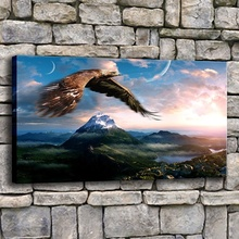 Modern HD Print Style 1 Piece Eagle Flying In Sky Over Mountains Landscape Picture Living Room Or Bedroom On The Wall Decor Canv