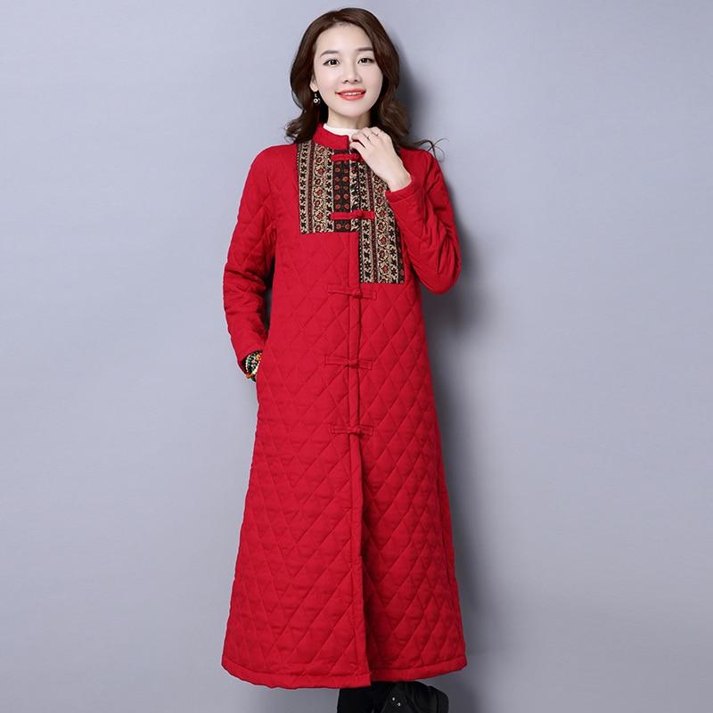 Vintage Pour Hb270 Navy Coton Long D'hiver Femme Feminina Qazxsw Hiver Veste Nouveaux rouge Manteau En Blue Style Femmes 2019 Chiese Rembourrée Jaqueta WUXqH8Axvw