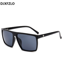 DJXFZLO 2018 Square Sunglasses Men Brand Designer Mirror Pho