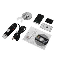 WiFi Digital Microscope 8 LED Two in one USB Endoscope Camera Microscopio 1600X Stereo Electronic Magnifier Plug and Play
