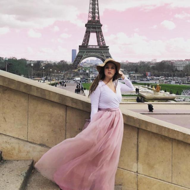 4 Layers 100cm Floor length Skirts for Women Elegant High Waist Pleated Tulle Skirt Bridesmaid Ball Gown Bridesmaid Clothing 4
