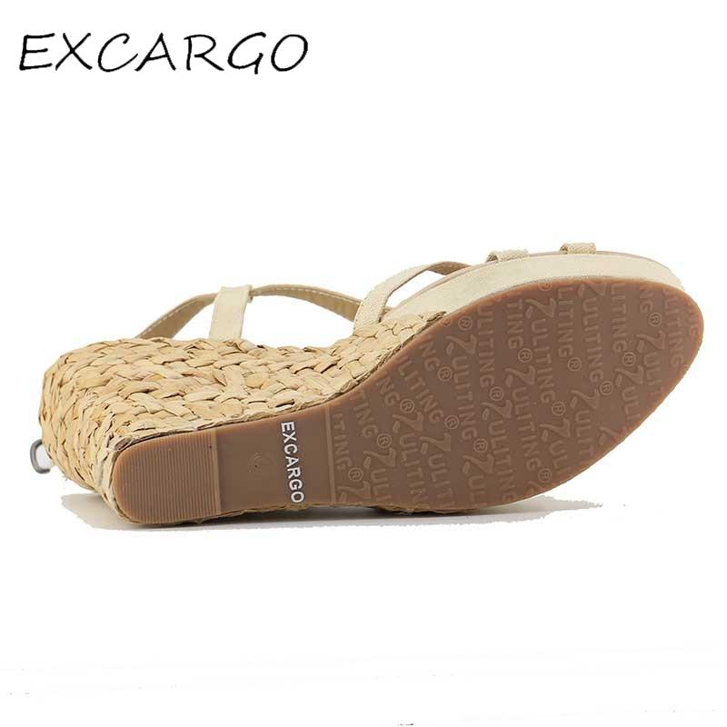 Bohemian Roman Slope Plus Size 30-43 Sexy High անջրանցիկ - Կանացի կոշիկներ - Լուսանկար 6
