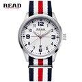 2017 READ Brand Men Women Fashion Casual Quartz Watch Nylon Strap Wristwatches Relogio Masculino Relojes De Marca Hombre