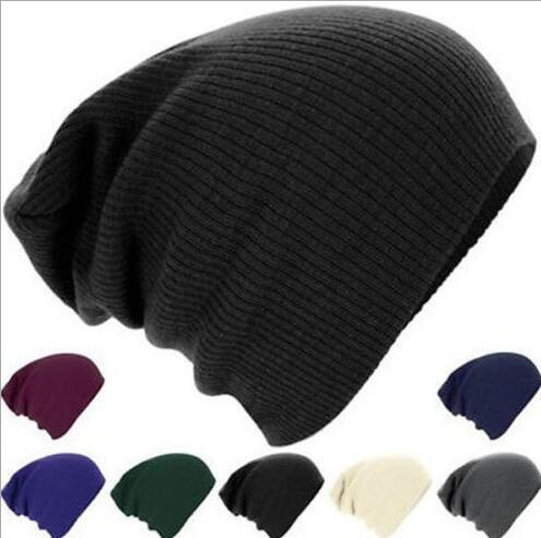 2017 Cheap Solid Fall Winter Classic Style Beanies Hot Sale Knitted Hats Ice Cap Unisex Hat Earmuff For Men Women