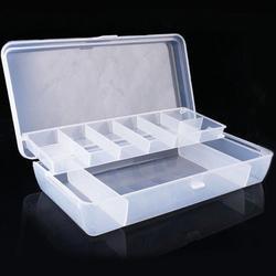 Ручной ящик для хранения инструментов, пластиковый лоток, отсеки для рыболовных снастей, двухсторонние ящики для хранения