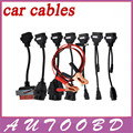 2017 Auto OBD2 Diagnotic Cables CDP Car Cables With Full Set 8 Car Cables TCS CDP PRO OBD2 OBDII Cables For MVD/Multidiag Pro+