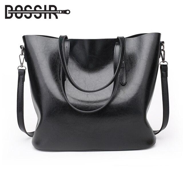 fb27a0745ba3 US $19.79 45% OFF|Women Shoulder Bags Fashion Handbag Oil Wax PU Leather  Large Capacity Tote Bag Casual Women Messenger Bags-in Shoulder Bags from  ...