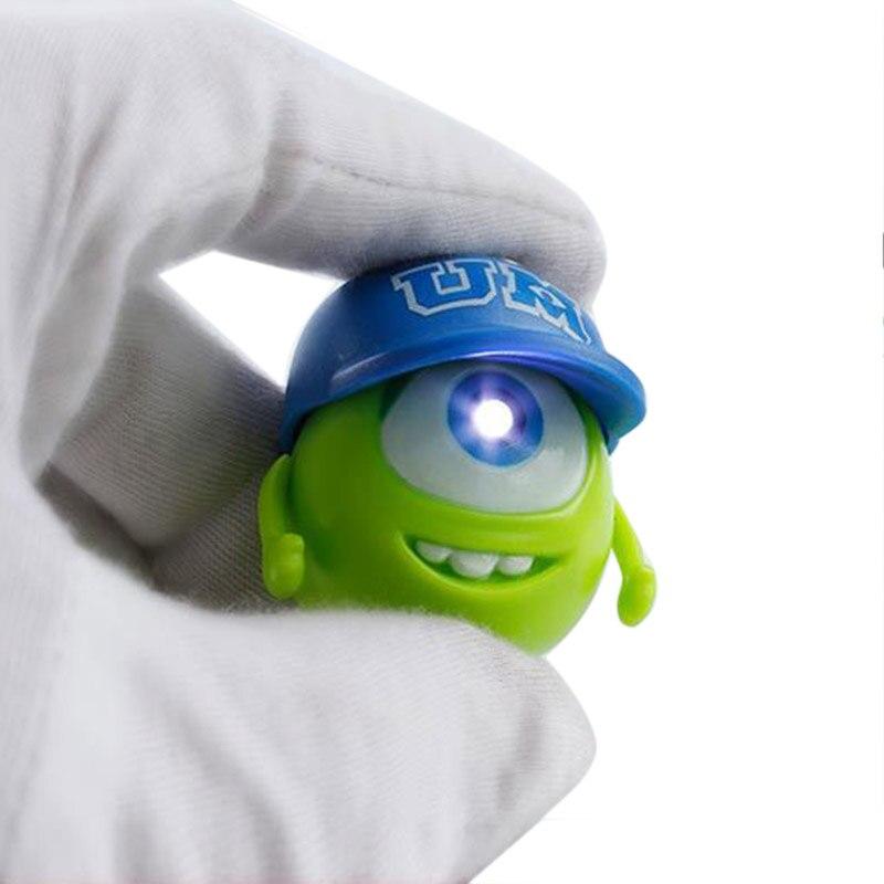 Green Baseball Big Eyes talking angry monster LED keychain FLASHLIGHT Keyrings toy Novelty Children Toy pumpkin
