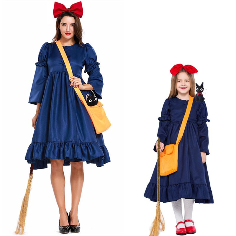 Women/'s Kiki/'s Delivery Service Halloween Cosplay Costume Witch Dress