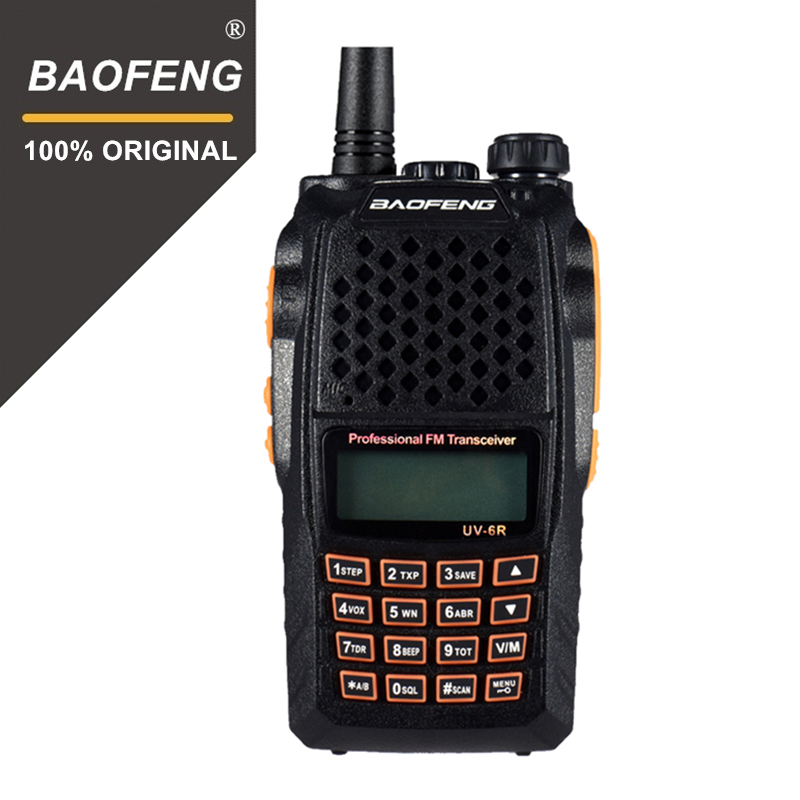 Baofeng UV-6R Two Way Radio Professional CB Radio Dual Band 128CH LCD Display Wireless Pofung UV6R tragbare 2 Weg Radio