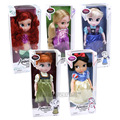 Animators Collection Princess Dolls Elsa Anna Ariel Rapunzel Snow White Jasmine Action Figure Girls Toys Gifts