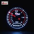 Dragon gauge universal 2 Polegada (52mm) luz de fundo branco óculos de sol carro automóvel turbina turbo boost gauge-1 bar 2 barra