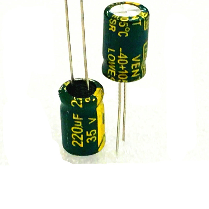 10pcs high quality 35V220UF High frequency and low resistance  Long life  high-temperature   Electrolytic capacitor 220UF 35V 10pcs high quality 25v68uf high frequency and low resistance long life electrolytic capacitor 68uf 25v 5x11