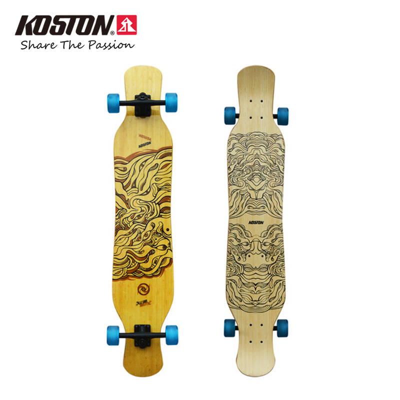 KOSTON Professional Dancing Longboard Complete Board Walking Skateboard Set Long Skateboard 46 Inch Carbon Fiber Hybrid Material koston lb202 downhill and freeride style complete longboard