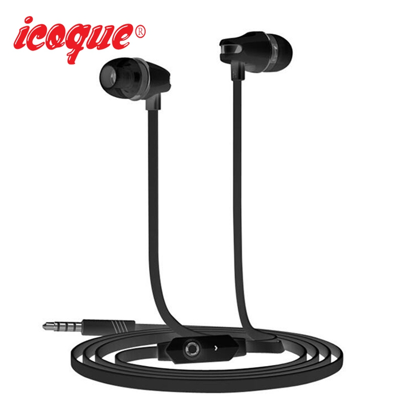 Icoque 3.5mm In-ear Earphone Wired Earbuds Bass Stereo Headphones with Mic for Computer MP3 Phone Xiaomi Earphones Sport Headset