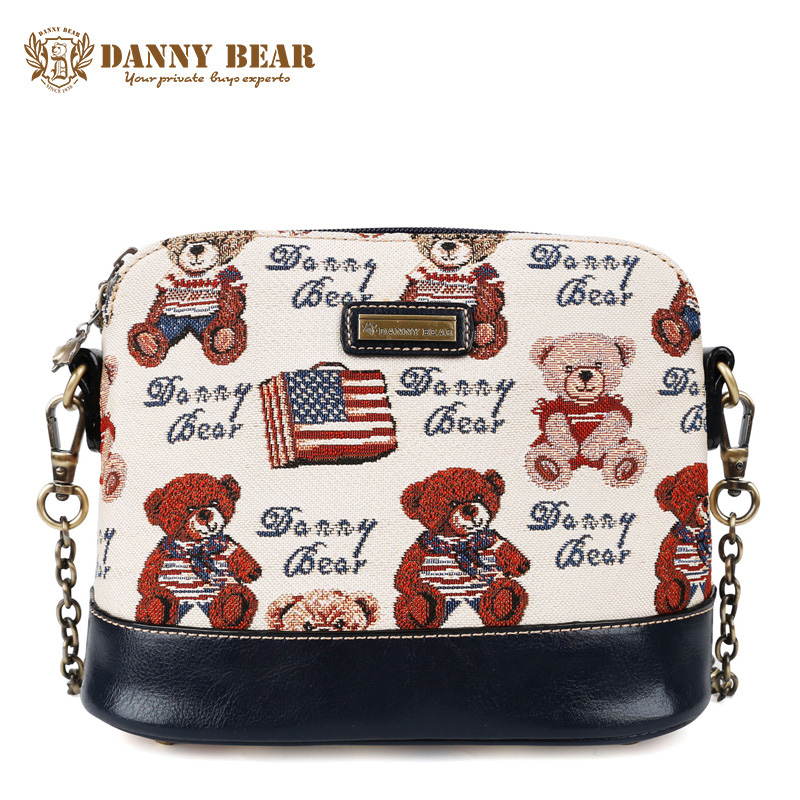 DANNY BEAR Brand Designers Women Messenger Bag Teenager Girls Cute Small Cross Body Bags Blue Vintage Shoulder Crossbody Bags рюкзак danny bear db14859 3