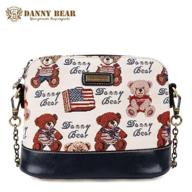 057968c500 DANNY BEAR Brand Designers Women Messenger Bag Teenager Girls Cute Small  Cross Body Bags Blue Vintage Shoulder Crossbody Bags