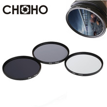 ND filtre densité neutre ND2 ND4 ND8 filtres 49MM 52MM 55MM 58MM 62MM 67MM 72MM 77MM photographie pour Canon Nikon Sony appareil photo(China)