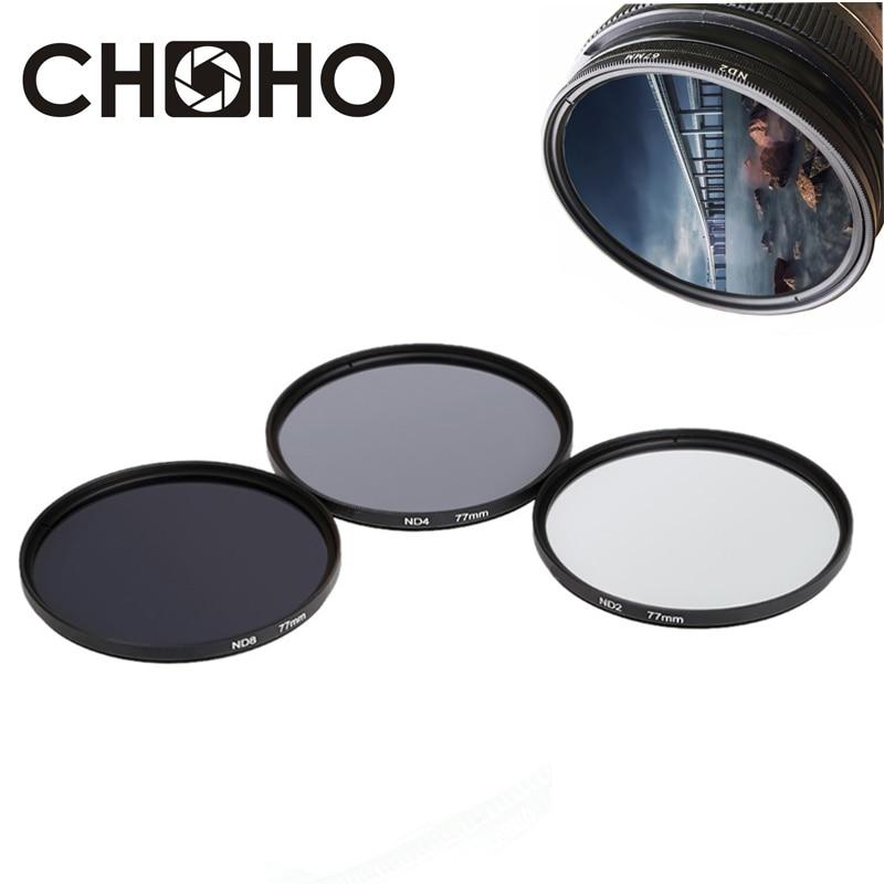Фильтр ND2 ND4 ND8 для фотостудии Canon, Nikon, Sony, 49 мм, 52 мм, 55 мм, 58 мм, 62 мм, 67 мм, 72 мм, 77 мм