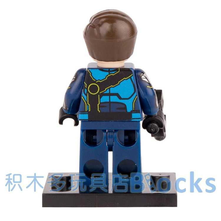Singola Vendita Blu Cyclops Lupo Spider-Man Marvel Avengers Super Heroes minifig assemblare Blocchi di Costruzione di Giocattoli Regalo