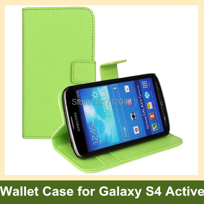 Simple Design PU Leather Wallet <font><b>Flip</b></font> Cover <font><b>Case</b></font> for <font><b>Samsung</b></font> Galaxy <font><b>S4</b></font> Active i9295 Free Shipping image