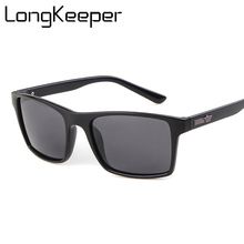 Polarized Driving Sunglasses Men Polarizer Square Frame Sun