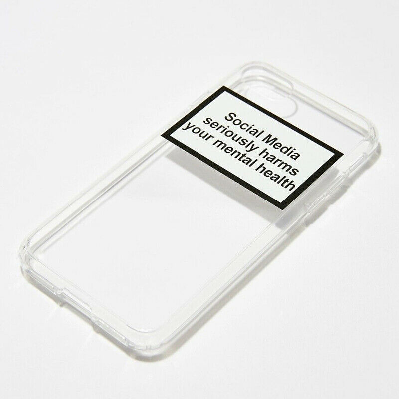 Soft Clear Phone Case Cover Social Media Seriously Harms Your Mental Health for iPhone image