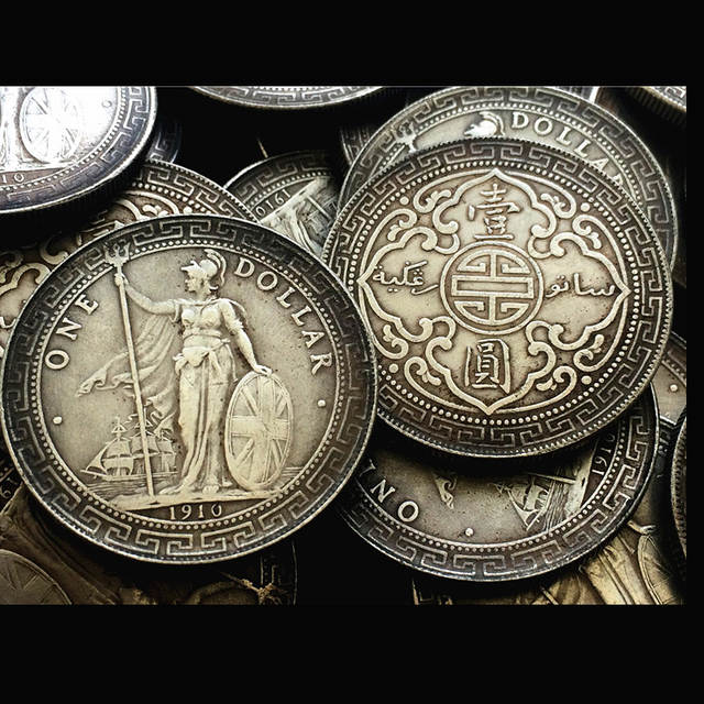 Placeholder 38 8mm Vintage Chinese Silver Dollar Iron Metal Craft Old Coins Copy One And