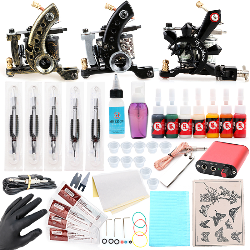 HOT Sales Tatto Vintage Bronze Tattoo Machine Fog Black Crystal Casting Machine Fog Tattoo Machine Kits TM8340 TM8341 TM8395