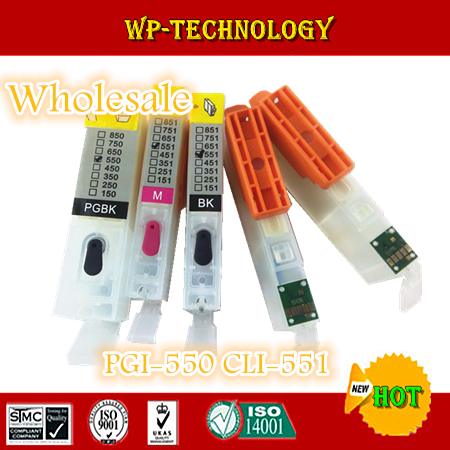 [Wholesale] Refill cartridge suit for PGI550 CLI551 ,suit for Canon PIXMA  IP7250,MG5450 ,PGI-550 CLI-551 With ARC chip 5 color ciss system for canon pgi 550xl cli 551xl pgi550 cli551 550 for canon mg5450 ip7250 7250 printer with arc chip
