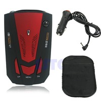 Hot 360 Degree Car Speed Limited Detection Voice Alert Anti Radar Detector With Red