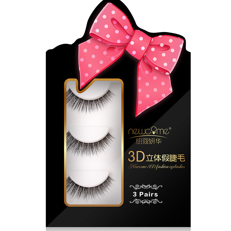 Newcome 3 Pairs 3d Mink Lashes False Eyelashes Extension For Eyelash Building Natural Soft, Lovely,sweet,sexy