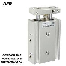 купить SMC Type Dual Rod Cylinder Basic TYPE double cylinder / double shaft cylinder CXSM20-10 CXSM20-15 CXSM20-20 -Z73 -Y59A дешево