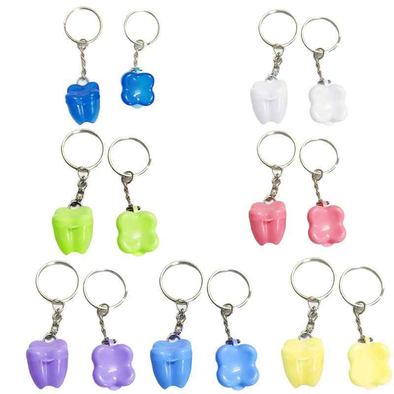 1PC Children Tooth Box Baby Deciduous Teeth Boxes Key Ring Storage Case Kids Gifts