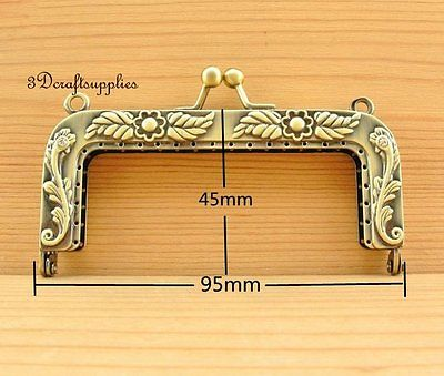 Vintage coin frame sewing  bag purse frame clasp alloying 9.5 cm anti brass D18 metal frame sewing bag purse frame clasp alloying 12 cm vintage d29