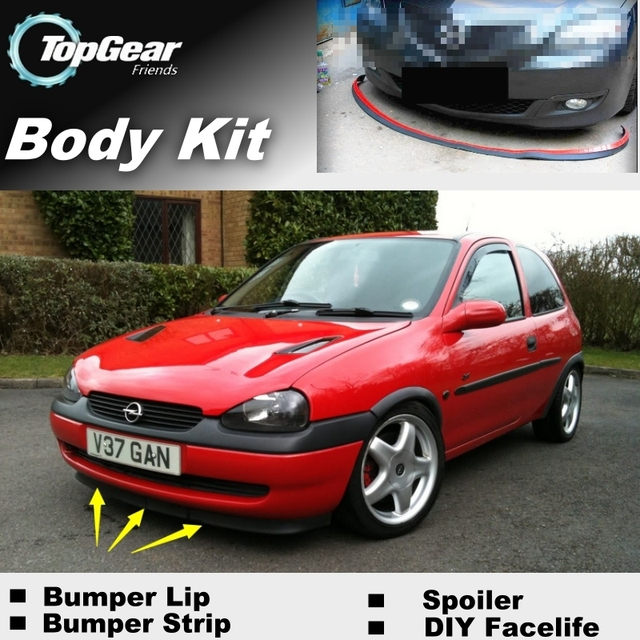 Bumper Lip Deflector Lips For Vauxhall Corsa A B C D E ...